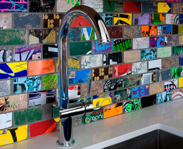 NY-Design-Week-2012-Recycled-skate-board-tiles by Art of Board