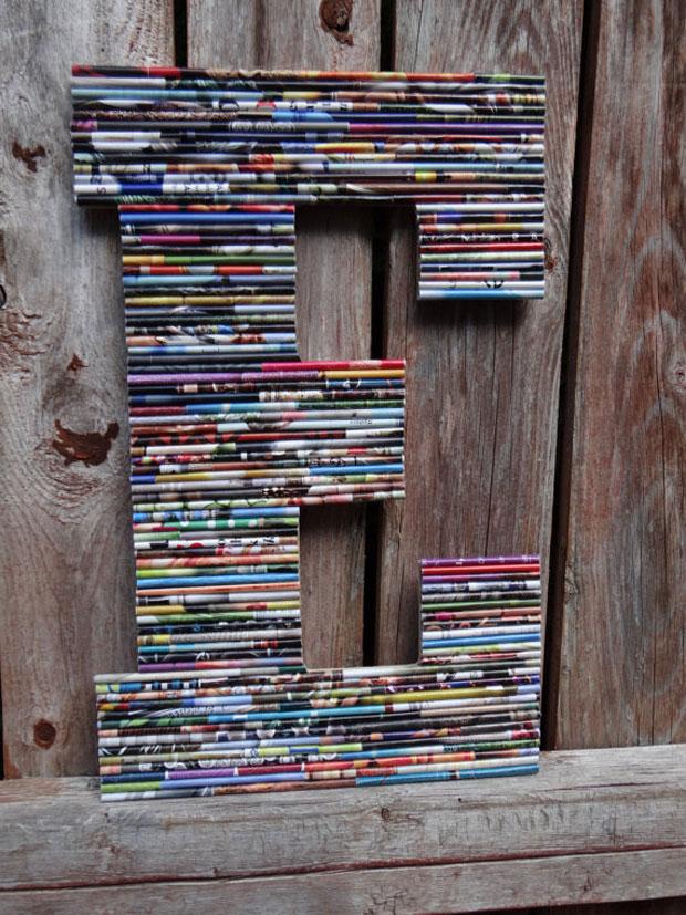 Rolled Paper Art Large Letters 187 Bellissima Kids